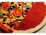 30 cm rå amerikansk pizzabunn med saus
