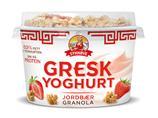Gresk yoghurt jordbær&granola 165g