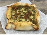Piazza pesto, mozzarella and tomato
